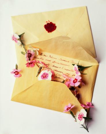 Writing「Love letter with flowers」:スマホ壁紙(16)