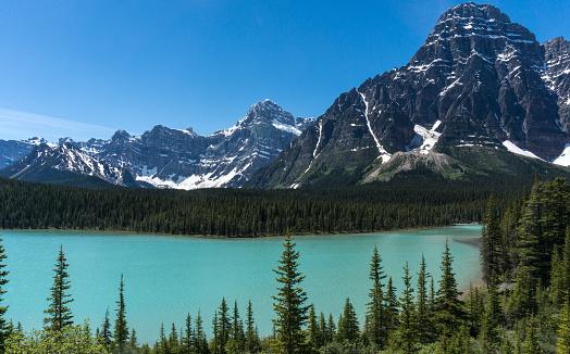 ケフレン山「Canada, Alberta, Banff National Park, Mt Chephren and Lower Waterfowl Lake」:スマホ壁紙(12)
