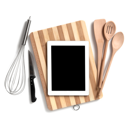 Touch Screen「Kitchen utensils with digital tablet」:スマホ壁紙(4)