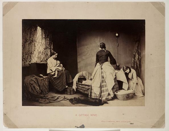 Laundry「A Cottage Home, c 1860.」:写真・画像(10)[壁紙.com]