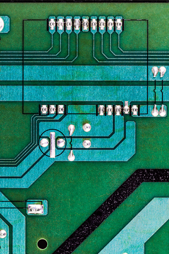 Mother Board「Photograph showing the underneath of a computer circuit board, United Kingdom」:スマホ壁紙(15)