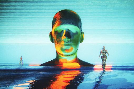 God「Cyborg head with crude humanoid shapes」:スマホ壁紙(18)
