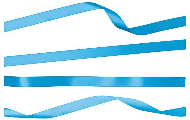 ブルーのストレートツイストした窓際の絶縁剥がしサテンリボン:スマホ壁紙(壁紙.com)