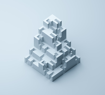 Steps and Staircases「Cubistic stairs building」:スマホ壁紙(19)