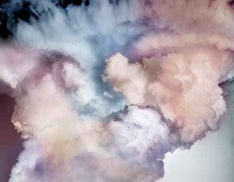 Gray Background「Pastel cloud」:スマホ壁紙(15)