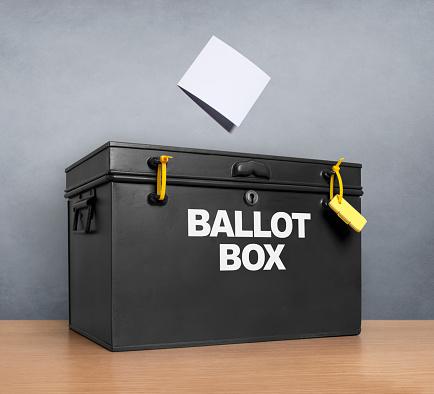 Voting Ballot「Ballot paper poised above the ballot box」:スマホ壁紙(13)