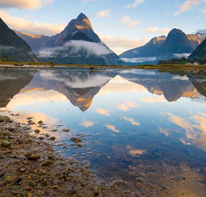 Fiordland National Park「The Milford Sound fiord. Fiordland national park, New Zealand」:スマホ壁紙(13)