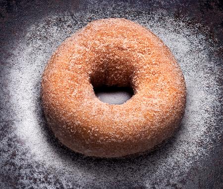 Doughnut「doughnut on tin with sugar」:スマホ壁紙(5)