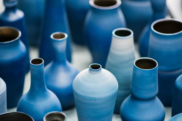 Blue pottery works in okinawa:スマホ壁紙(壁紙.com)