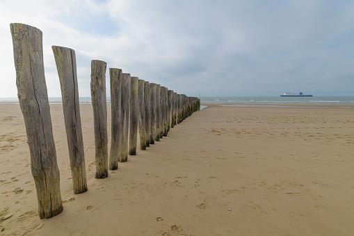 Calais「Wooden breakwater, Calais, Pas-de-Calais, Hauts-de-France, France」:スマホ壁紙(10)