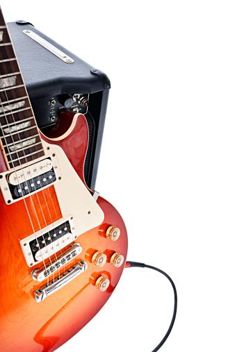 Rock Music「Electric guitar leaning on amplifier」:スマホ壁紙(6)