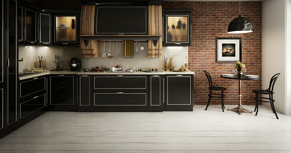 Domestic Kitchen「Luxurious Domestic Kitchen Interior」:スマホ壁紙(1)
