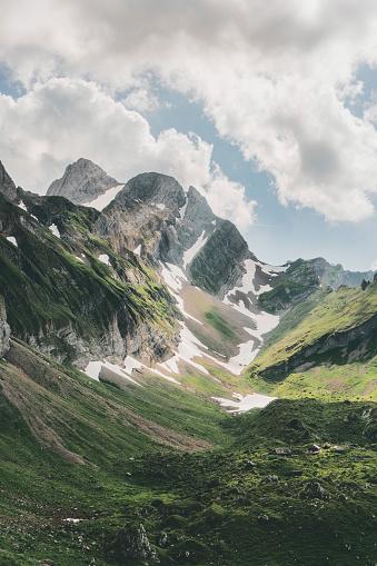 Mountain Peak「Scenic view of mountains in Switzerland」:スマホ壁紙(10)