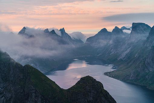 Norway「Scenic view of fjord in Norway」:スマホ壁紙(19)