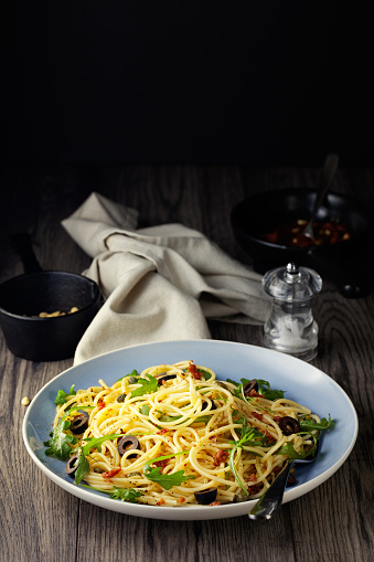 Cooking Oil「Healthy spaghetti with red vegan red pesto sauce」:スマホ壁紙(17)