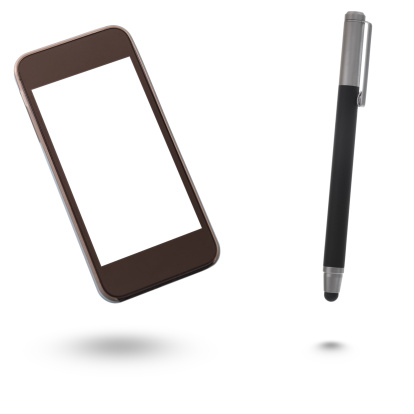 Mobile Phone「Smartphone with Blank Screen and digital pen」:スマホ壁紙(0)