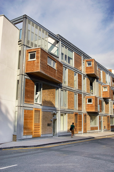 Penthouse「Regeneration of East London, UK. Example of a new property development built with sustainable material - timber cladding.」:写真・画像(11)[壁紙.com]