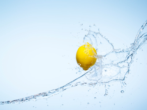 Citrus Fruit「Whole Lemon and a water splash」:スマホ壁紙(6)