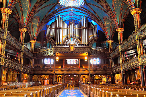 Gothic Style「The Great Casavant Organ at Notre Dame Basilica, Montreal」:スマホ壁紙(3)