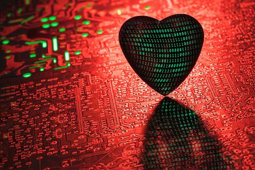 Circuit Board「Heart and Internet」:スマホ壁紙(16)