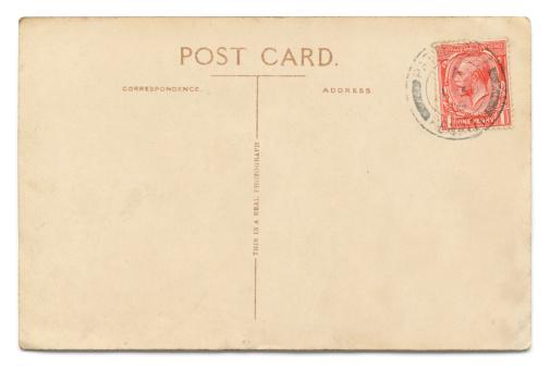 Postcard「Vintage postcard on white」:スマホ壁紙(11)
