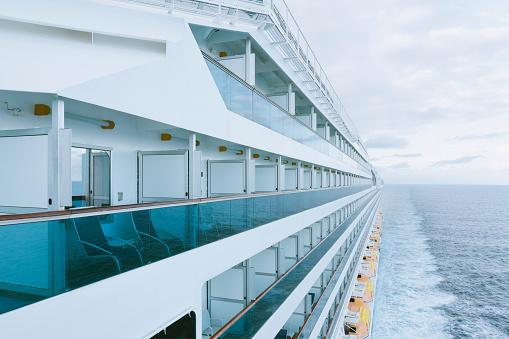 Cruise Ship「On board of a cruise ship, Mediterranean Sea」:スマホ壁紙(6)