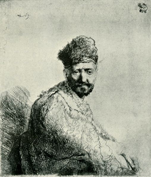 Etching「Bearded Man In A Furred Oriental Cap And Robe: The Artists Father 1」:写真・画像(19)[壁紙.com]