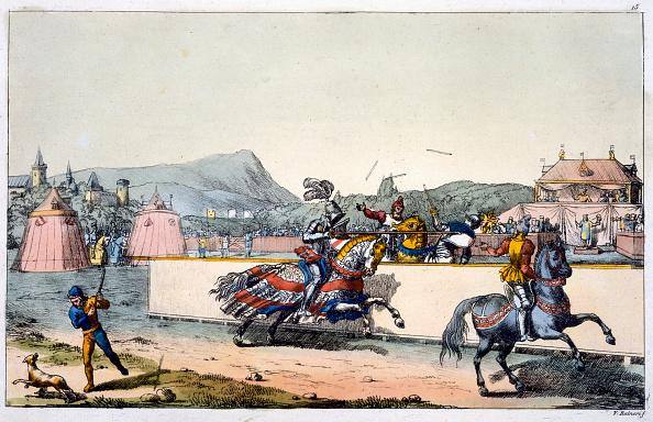 Horseback Riding「Knights Jousting At A Tournament 19th Century」:写真・画像(16)[壁紙.com]