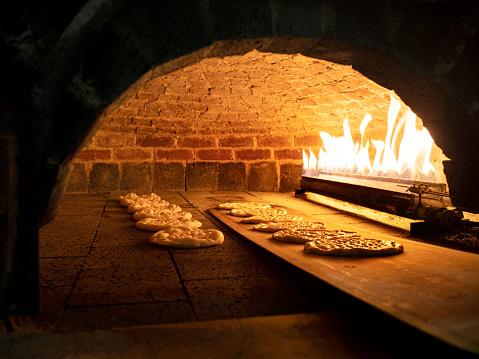 Bread「pitta bread in a Brick Oven, Brick Oven,stone oven,」:スマホ壁紙(10)