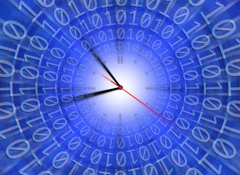 Zero「Clock face in binary codes of one and zero」:スマホ壁紙(17)