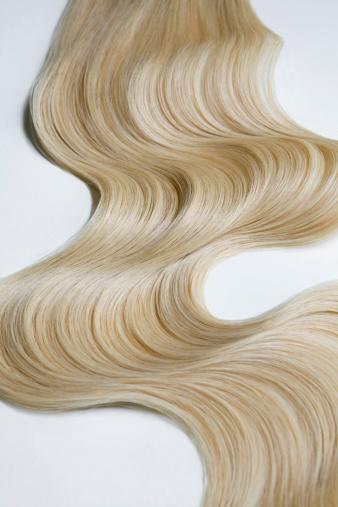 Long Hair「Blond wavy hair on white background.」:スマホ壁紙(9)