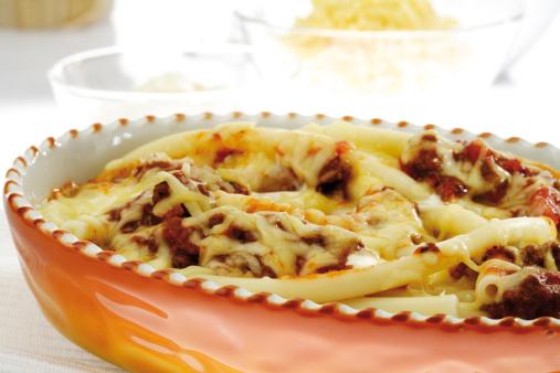 Sour Cream「Maccaroni casserole, close-up」:スマホ壁紙(8)