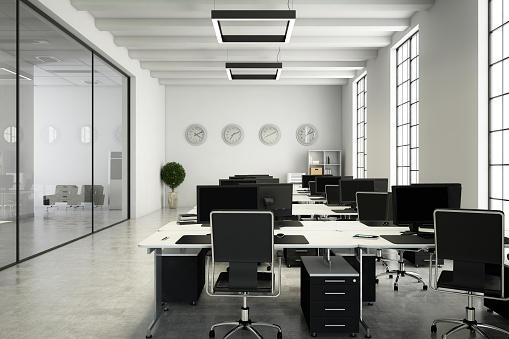 Working「Office with Desks」:スマホ壁紙(9)