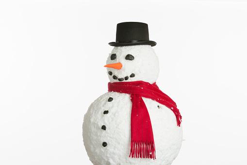 snowman「Snowman on white background」:スマホ壁紙(16)