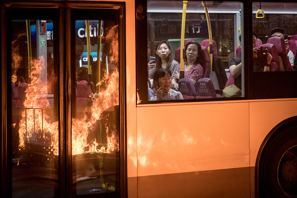 Bus「Anti-Government Protest Movement in Hong Kong」:写真・画像(7)[壁紙.com]