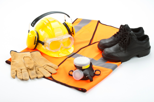 Shoe「Personal safety workwear isolated on white background」:スマホ壁紙(13)