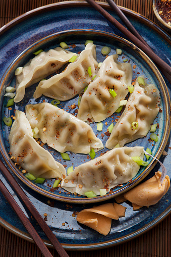 Chinese Dumpling「Steamed Dumplings with Soy Sauce and Green Onions」:スマホ壁紙(9)