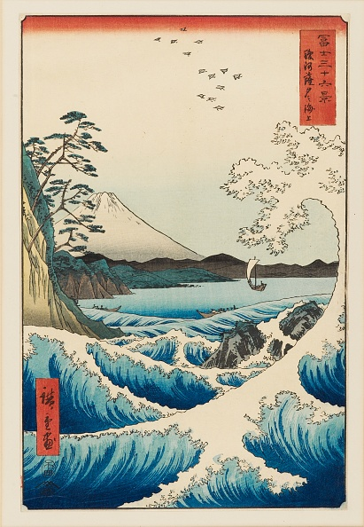 富士山「The Sea At Satta In Suruga Province」:写真・画像(18)[壁紙.com]