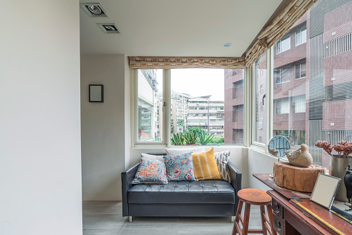 Studio Apartment「House interior with living room and a sofa」:スマホ壁紙(5)