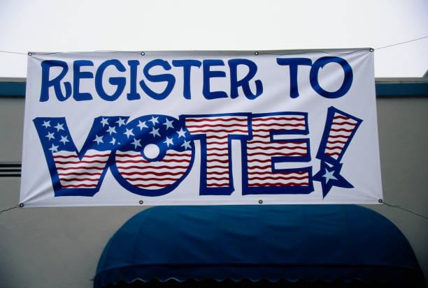 Register to Vote Banner in California:スマホ壁紙(壁紙.com)