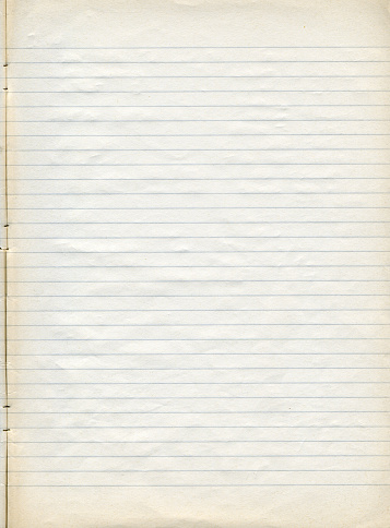 Wrinkled「Sheet of old slightly yellowed lined note paper」:スマホ壁紙(14)