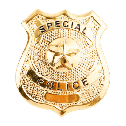 Emergency Services Occupation「A golden badge saying special police」:スマホ壁紙(14)