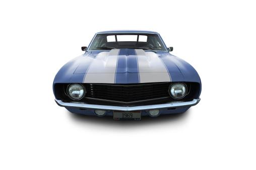 Hot Rod Car「Blue Muscle Car - 1969 Camaro」:スマホ壁紙(5)