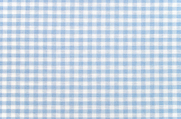 Blue-and-white checkered gingham fabric:スマホ壁紙(壁紙.com)
