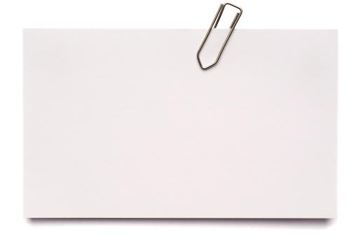 Adhesive Note「White blank index card isolated on white」:スマホ壁紙(11)