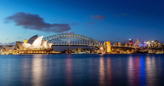 Sydney「Sydney Skyline at Night」:スマホ壁紙(2)