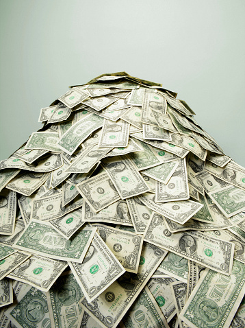 Greed「Stack of US paper currency」:スマホ壁紙(14)