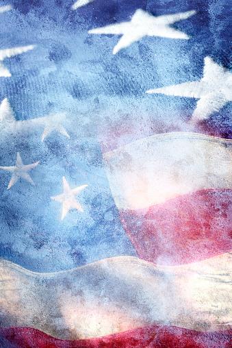Multiple Exposure「Multiple exposure of two American flags」:スマホ壁紙(18)