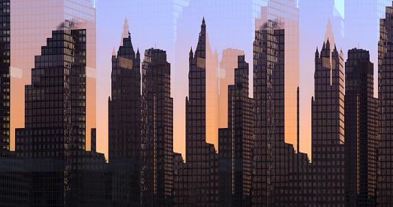Multiple Exposure「Multiple exposure image of skyline of New York」:スマホ壁紙(9)