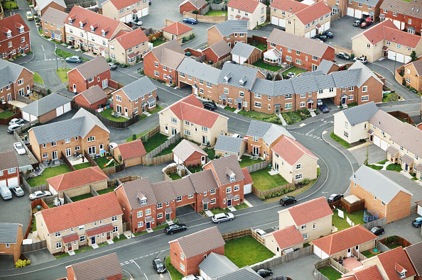 UK「Housing estate, UK, aerial view」:写真・画像(17)[壁紙.com]